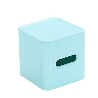 Plastic Household Living Room Cylindrical Roll Paper Drawer Blue