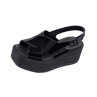Womens Zaxy Sandals Hi Low Platform Beach Slide / Flip Flop - Black