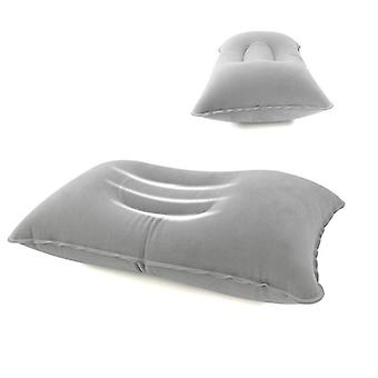 Portable Inflatable Pillow Travel Air Cushion Double Sided Flocking Camp Beach