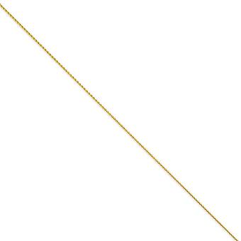14k Yellow Gold 1.2mm Round Wheat Chain Necklace - Length: 14 to 30