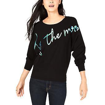 Bar III | To The Moon Foil-Print Sweater