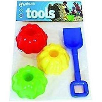 Adria-Schaufel und 3 Formen Playset Kinder Spielzeug