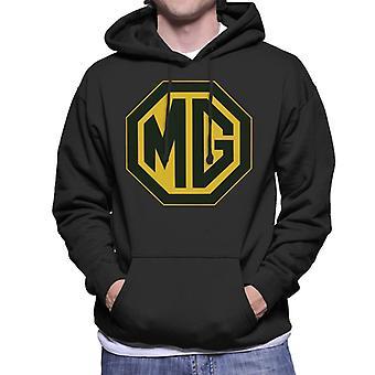 MG svart og gull logo britiske motor heritage menn's hettegenser