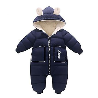 Baby Clothes Winter Velvet Newborn Infant Boy Girl Warm Thick Romper Jumpsuit Hooded Snowsuit Coat