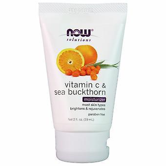 Now Foods Vitamin C & Sea Buckthorn Moisturizer, 2 oz