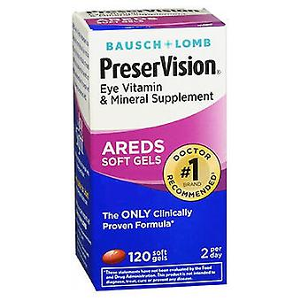 Bausch And Lomb Preservision Eye Vitamin And Mineral Supplements With Areds, 120 sgels