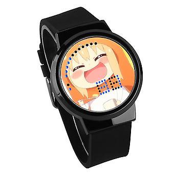 Nepremokavé svetelné LED Digitálne Touch Deti hodinky - himono onna #17