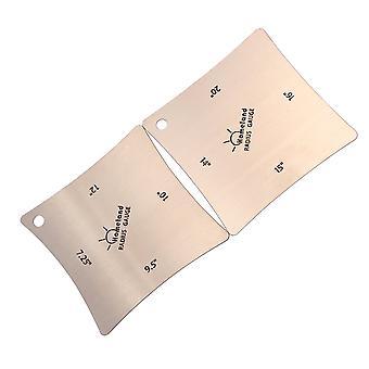 2pcs Stahl Gitarre Fingerboard Sattel Mutter Radius Gauge Messwerkzeug Set