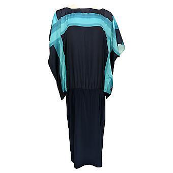 Heidi Daus Dress Exceptionally Chic Boat-Neck Sheath Blue 668-070