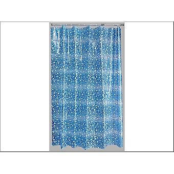 Home Label Bubbles Duschvorhang Blau 96000