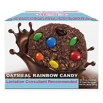 Mommy knows best ready to eat oatmeal chocolate rainbow candy chip lactation cookies, 6 ea