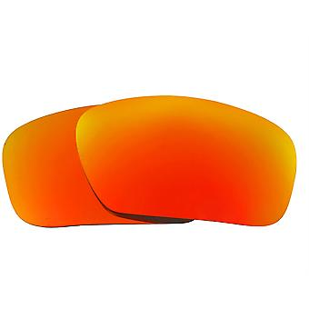 Polarized Replacement Lenses for Oakley Badman Sunglasses Anti-Scratch Red