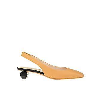 Anna Baiguera Ezgl238022 Mulheres'sandálias de couro bege