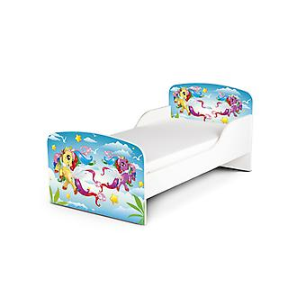 PriceRightHome Magical Pony Toddler Bed Plus Fibre Mattress