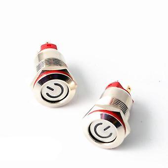 Momentary Latching Push Button Schalter gesperrt flachen Kopf fixed Led Metal
