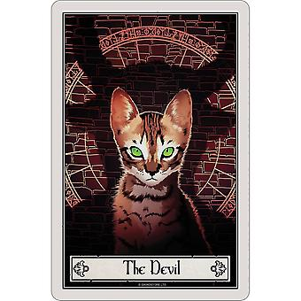 Deadly Tarot The Devil Felis Plaque