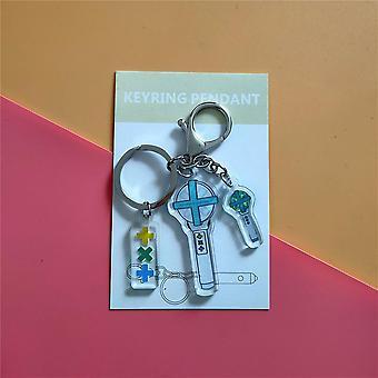 St-jk Stationery Set, Pendentif Kpop Light Stick Keychain