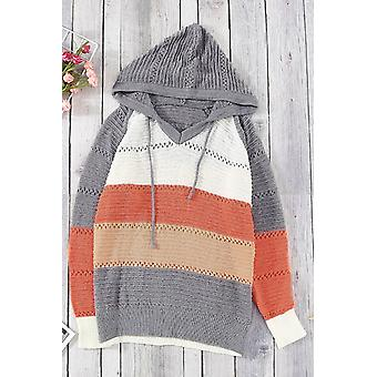 Block Beach Bonfire Knitted Hoodie