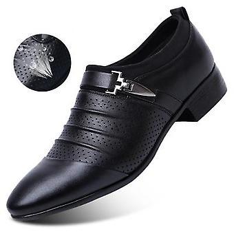 Men's Leather Wedding Formal Loafer Shoe.