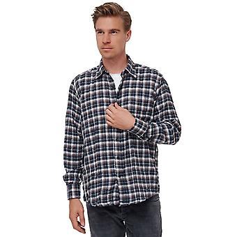 Men Flannel Shirt Checked Lumberjack Plaid Jersey Longsleeve Regular Fit Vintage
