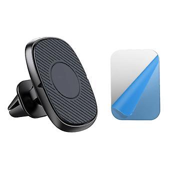 USLION Magnetic Phone Holder Car con clip de ventilación de aire y pegatina magnética - Universal Dashboard Smartphone Holder Black