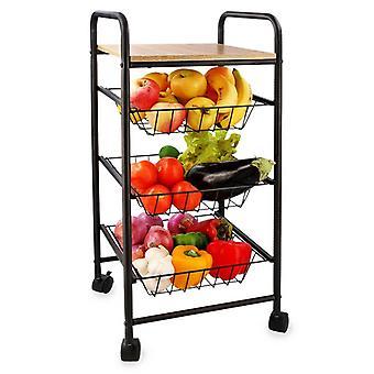 Vegetable trolley Quid Square Metal (34 x 34 x 76 cm)