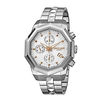 Roberto Cavalli Men's Silver Dial Stainless Steel Watch