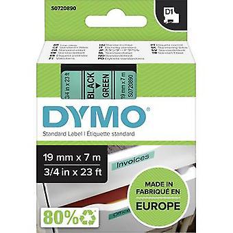 Märkning tape DYMO D1 45809 Tape färg: grön teckensnitt färg: svart 19 mm 7 m