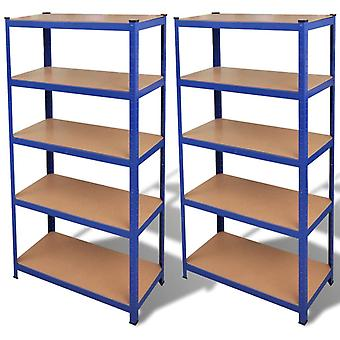 2 x Shelf Shelf Plug-in Shelf Metal Shelf Cellar Shelf Blue