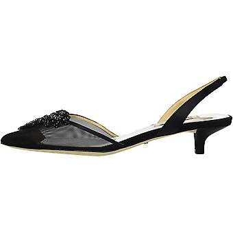 BADGLEY MISCHKA Womens MP4437 Satin Pointed Toe Casual Slingback Sandals