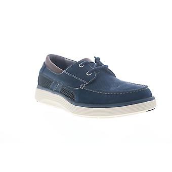 Clarks Un Abode Step  Mens Blue Loafers & Slip Ons Boat Shoes