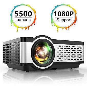 Projektor, toptro Mini-Projektor 5500 Lumen native 1080 * 720p tragbare lcd Heimkino Video projec