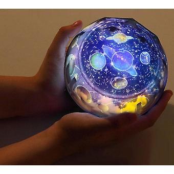 multifunksjonell stjernehimmelprojektor, jord/univers som viser roterende led