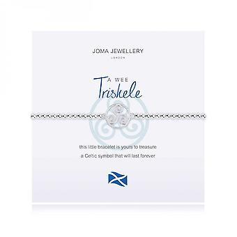 Joma Jewellery A Little Triskele Silver 17.5cm Stretch Bracelet 4004