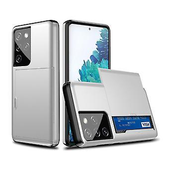 VRSDES Samsung Galaxy S10 Plus - Funda de portada de la ranura de la tarjeta wallet business white