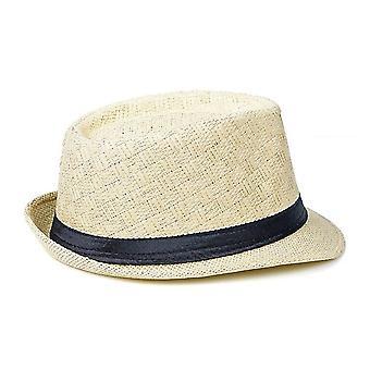 Summer Chapeu Cowboy Straw Hats - Men Black Solid Beach Panama Hat