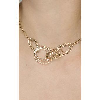 Gold Interlock Rings Pendant Necklace