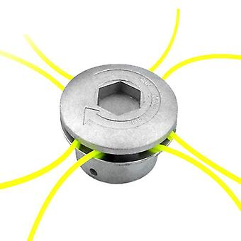 Universal Aluminum Grass Trimmer Head With 4 Lines For Lawn Mower