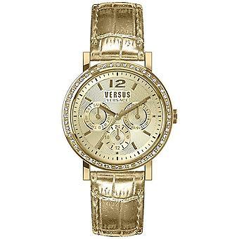 Versus by Versace Women's Watch Wristwatch Manhasset VSPOR2419 Leather