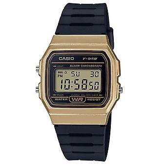Casio F-91wm-9aef Gold & Black Resin Digital Watch
