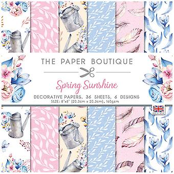 The Paper Boutique - Spring Sunshine Collection - 8x8 Paper Pad