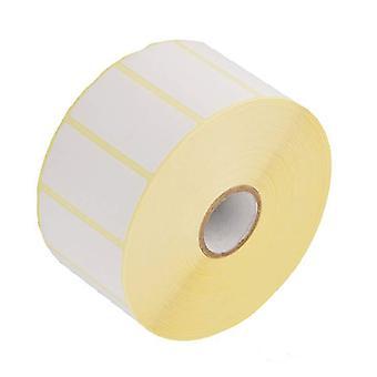 Valkoinen lämpö itseliimautuva paperi tarra, 50mm x 25mm - 76mm ydin