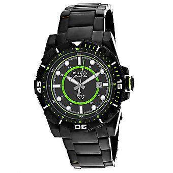 Bulova Men's Marine Star Black Dial Watch - 98B178