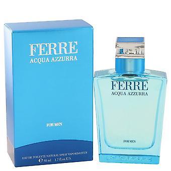 Ferre Acqua Azzurra Eau De Toilette Spray By Gianfranco Ferre 1.7 oz Eau De Toilette Spray