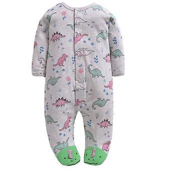Baby Romper Pitkät hihat 100% Puuvilla Sarjakuva Painettu Vastasyntynyt Pyjama