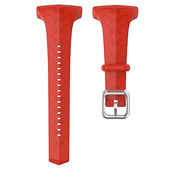 For POLAR Polar FT60 Women's Silicone Watch Strap(Red)
