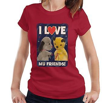 苏蒂我爱我的朋友女人的T恤