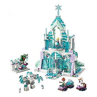 Frozen Snow World Series L'Elsa Magical Ice Castle Set Building Blocks Briques