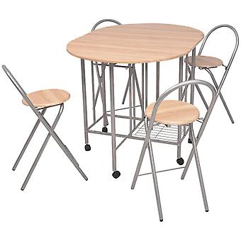 Five Piece Folding Dining Set Mdf