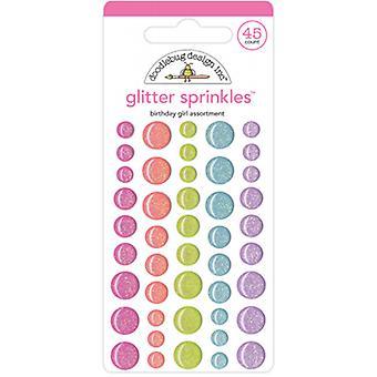 Doodlebug Design Geburtstag Mädchen Sortiment Glitter sprinkles